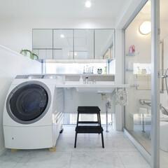 LIXIL/リクシル/洗面/洗面所/洗面台/洗面所インテリア/... ♪洗面化粧室の施工事例♪⠀ 白で統一され…