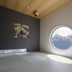 LIXIL/LIXILの窓/リクシル/丸窓/窓/和室インテリア/... ♪和室の施工事例♪⠀ 大きな丸い窓が印象…