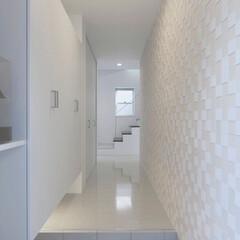 LIXIL/リクシル/エコカラット/玄関スペース/玄関ホール/玄関インテリア/... ♪玄関ホールの施工事例♪⠀ 調湿、脱臭効…