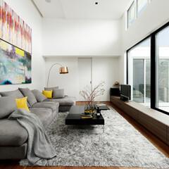LIXIL/LIXILの窓/リクシル/大きな窓/明るいリビング/明るい家/... ♪窓の施工事例♪⠀ 写真右手、窓の外は建…
