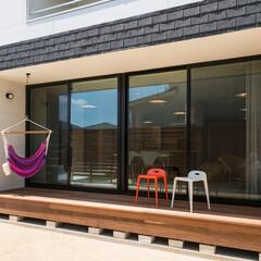 LIXIL/LIXILの窓/リクシル/エクステリア/テラス/テラス窓/... ♪テラスの施工事例♪⠀ リビングと庭をつ…