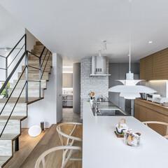 LIXIL/リクシル/リクシルキッチン/キッチン/対面キッチン/キッチンテーブル/... ♪キッチンの施工事例♪⠀ キッチンの床の…