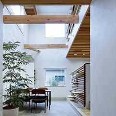 LIXIL/LIXILの窓/リクシル/窓/サッシ/土間のある家/... ♪吹き抜け土間の施工事例♪⠀ 玄関を入る…