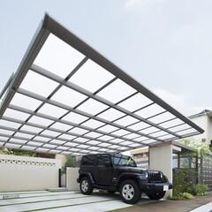 LIXIL/リクシル/カーポート/カーポート有/車庫/駐車場/... ♪カーポートの施工事例♪⠀ クルマ2台分…(1枚目)