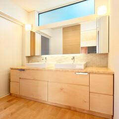 LIXIL/リクシル/エコカラット/エコカラットプラス/洗面/洗面所/... ♪洗面化粧室の施工事例♪⠀ 造作した洗面…