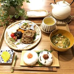 キッチン雑貨/食器/器/秋/晩御飯/和食/... 〜晩御飯〜 ・蓮根のはさみ揚げ ・しいた…