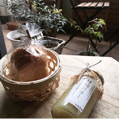 観葉植物/お土産/バター/グルメ/フード/スイーツ/... 可愛いミニ食パンと林檎バターをお友達から…