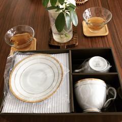 おやつタイム/カップ&ソーサー/コーヒーカップ/ダイニングテーブル/キッチン雑貨/雑貨/... 5月の家庭訪問に向けてコーヒーカップ&ソ…(1枚目)