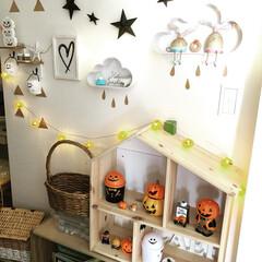ハロウィン/かぼちゃ/子供部屋/キッズルーム/ドールハウス/IKEA/... 我が家のキッズルームです。 ポップなハロ…
