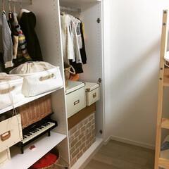 キッズルーム/子供部屋/洋服収納/インテリア/収納/住まい/... とうとう、ここの子供部屋の収納スペースに…