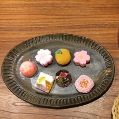 京都/半生菓子/器/春/和菓子/フード/... 母が京都へたまーに一人旅してるので、その…