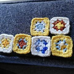 がま口財布/モチーフ編み/かぎ針編み/手作り/ハンドメイド/雑貨/... 刺繍糸でモチーフを編みました。 これは娘…