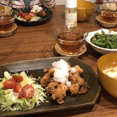 晩御飯/グルメ/フード/おうちごはん/おうちごはんクラブ/キッチン/... 旦那の手料理の定番は竜田揚げです。大根お…