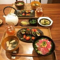 南部鉄器/マグロ丼/手料理/手作り/器/おうちごはん/... マグロが特売日のときはマグロ丼! みーん…