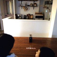 こどものいる暮らし/ダイニングテーブル/キッチン収納/ゲーム/アプリ/XPERIATOUCH/... たまにのお楽しみ〜 大好きなXperia…