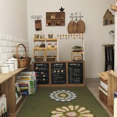 おままごとカフェ/おままごとキッチン/おままごと/手作り/編み物/子供部屋/... アイデア更新しました! 今回は『まるで本…