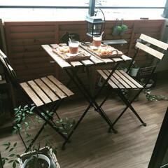 ドーナツ/おやつ/IKEA/ベランダガーデン/LIMIAごはんクラブ/わたしのごはん/... わたしのお気に入りのベランダガーデンです…