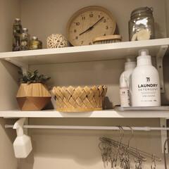 洗濯アイテム/洗剤/ナチュラル/フェイクグリーン/雑貨/インテリア/... お気に入りの洗剤&ボトルです! セブンイ…