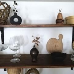 キッチン棚/インテリア/一輪挿し/DIY/キッチン雑貨/収納/... 今、キッチン棚はこんな感じになっています…