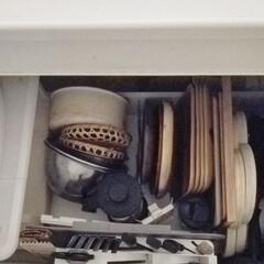 THERMOS サーモス ステンレスランチジャー(1300ml/1.3L)   サーモス(弁当箱)を使ったクチコミ「シンク下の収納。真上から見るとこのように…」(1枚目)