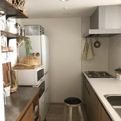 ナチュラル/スツール/北欧/キッチン雑貨/キッチン/100均/... キッチンは私が長く居る場所の一つなので、…