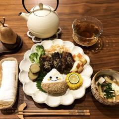 ナチュラル/晩御飯/グルメ/フード/雑貨/100均/... 今日の夜ご飯は白い器でワンプレートにしま…