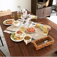朝ご飯/おうちごはん/モーニング/パンケーキ/LIMIAごはんクラブ/わたしのごはん/... パンケーキで休日の朝ご飯🥞✨ ホットケー…