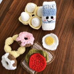 おもちゃ/手作り/編み物/こどもと暮らす/おままごと/雑貨/... 今日はハンドメイドで作った雑貨編〜 一つ…