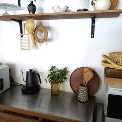 藍花 Aika 南部鉄器 日の丸 鉄急須 600cc 白 茶漉し付き(急須)を使ったクチコミ「キッチンにもいただいたもみじの枝を切って…」