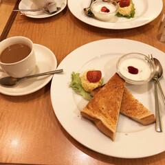 コーヒー/モーニングセット/LIMIAごはんクラブ/LIMIAおでかけ部/わたしのごはん/おでかけ/... ※撮影投稿許可いただきました! おはよう…