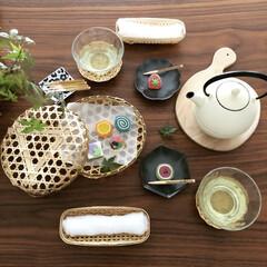 和菓子/おやつ/京都/京菓子/夏インテリア/インテリア/... 可愛い半生菓子いただきました! お茶の時…(1枚目)