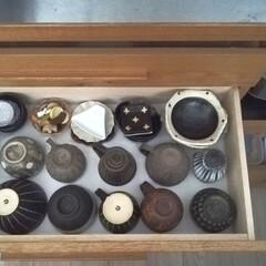 美濃焼 箸置き れんこん 白 431-45-41E(箸置き)を使ったクチコミ「さきほどのカップボード収納の引き出し2段…」