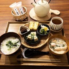 七草粥/あけおめ/冬/ごはん/おうちごはん/グルメ/... 1/7に七草粥を食べました。そのときの晩…