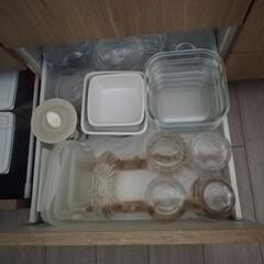 ティーフォーツー ウェーブ ポット付ティーセット YF-1006W 吉谷硝子 耐熱ガラス ガラス食器(ティーカップ、ソーサー)を使ったクチコミ「寄りの写真です。ワイングラス以外ガラスも…」