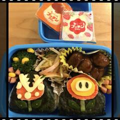 お花畑/マリオ/キャラ弁 今日は、息子の幼稚園の月1弁当の日です🍱…