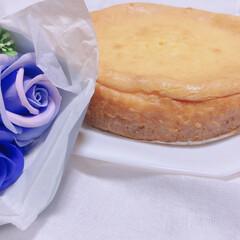 おうちカフェ 自宅にいる事が増えたので、チーズケーキと…(1枚目)