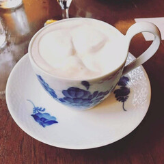 カフェオレ/クリームカフェオレ/喫茶店/カフェ/自由が丘/自由が丘カフェ/... お気に入りの自由が丘の喫茶店。クリームカ…