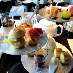 アフタヌーンティー/パレスホテル東京/ケーキ/甘いもの好き/甘党/優雅な時間/... パレスホテル東京のアフターヌーンティー。…
