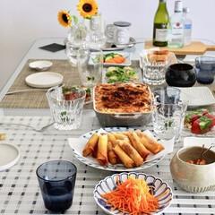 おもてなし/幸せな時間/おいしいご飯/おもてなし料理/ごはん 友達と一緒に食べたお家ごはん。幸せな時間…