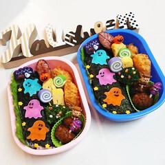 デコ弁/幼稚園弁当/ととしーと/ハロウィン ととしーとでハロウィン弁当😊
