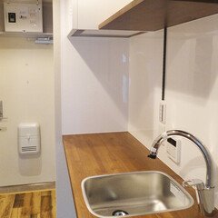 キッチン/造作キッチン 木材とステンレスで作ったオリジナルキッチ…