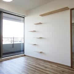 キャットウォーク/リビングの壁/和室を洋室に リビングと元和室との間の引き戸を壁にして…