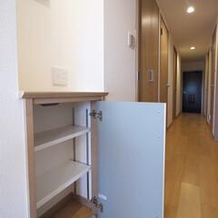 収納/デッドスペース インターホンの下のデッドスペースを収納に。