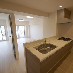 キッチン/対面キッチン 壁をなくし対面式で開放的になったキッチン