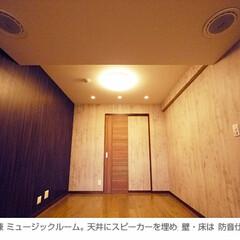 防音/寝室 寝室兼ミュージックルーム。 天井にはスピ…