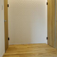 玄関ホール/エコカラット/壁 エコカラットを使用した玄関ホールの壁。