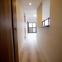 二面採光/廊下 二面採光のリビングに続く廊下も、光を感じ…
