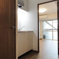 1K/キッチン/一人暮らし 1Kのコンパクトなキッチンスペース。