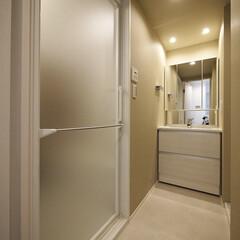 洗面室/洗面台 3点ユニットバスから独立させた洗面室。