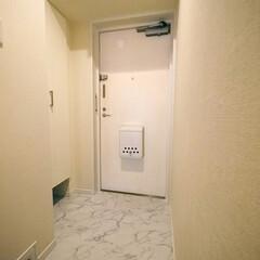 玄関/大理石調 高級感ある大理石調のフロアタイルを使用し…